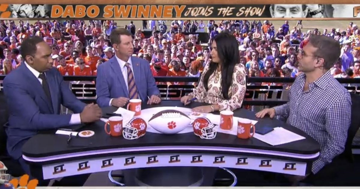 WATCH: Swinney talks Trevor Lawrence, Heisman on ESPN 'First Take' - TigerNet.com