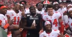 WATCH: Tavien Feaster reunited with former teammates