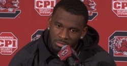 WATCH: Tavien Feaster reacts to South Carolina's 38-3 loss to Clemson