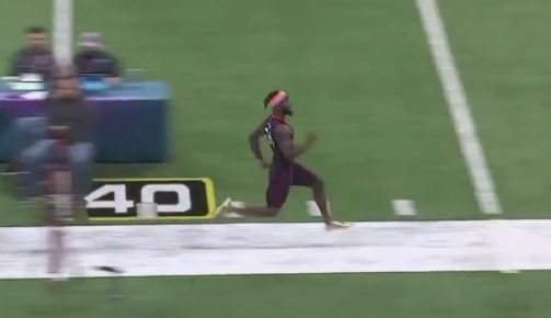 WATCH: Mark Fields runs blazing 40-yard dash at NFL Combine