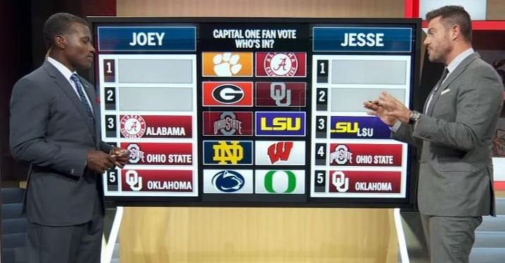 WATCH: ESPN analysts give their Top 5 CFB rankings - TigerNet.com