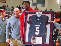 WATCH: Tee Higgins gets his high school jersey retired
