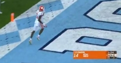 WATCH: Lawrence connects with Tee Higgins for 38-yard TD vs. UNC