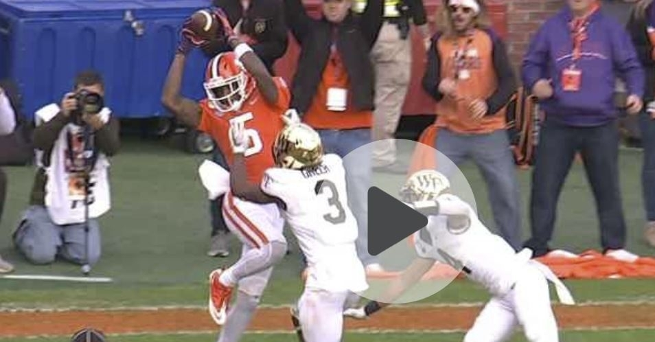 WATCH: Higgins skies over defenders for red zone TD - TigerNet.com