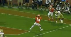 WATCH: Clemson defense completes goal-line stand with INT