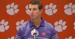 WATCH: Dabo Swinney's press conference for North Carolina