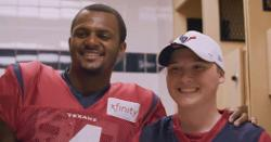 WATCH: Deshaun Watson makes dream come true with 'Make-a-Wish'