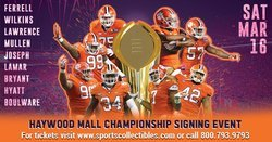 Greenville to Host Clemson National Championship Autograph Session