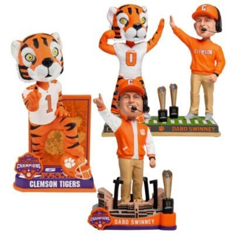 JUST RELEASED: 3 Clemson National Championship Bobbleheads