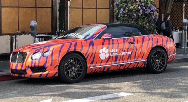 LOOK: Custom Clemson Bentley spotted in Hollywood
