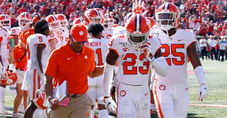Booth heads to the locker room Saturday