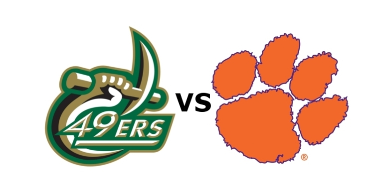 Clemson plays Charlotte at 7:30 PM Saturday