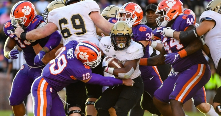 Clemson is 9-0 after beating Wofford Saturday.