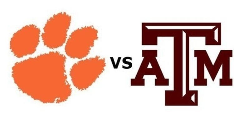 Clemson and Texas A&M kick off Saturday at 3:30 pm on ABC