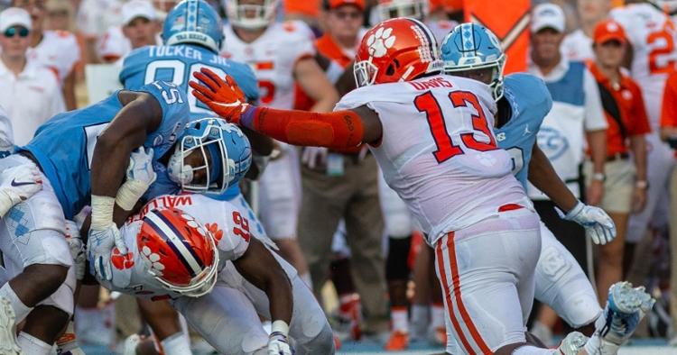 True freshman Tyler Davis continues to lead the interior D-line in snaps, posting a unit-high 42 plays at UNC.