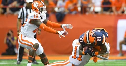 Clemson's defense shut down the Syracuse offense. (Photo by Rich Barnes, USAT)