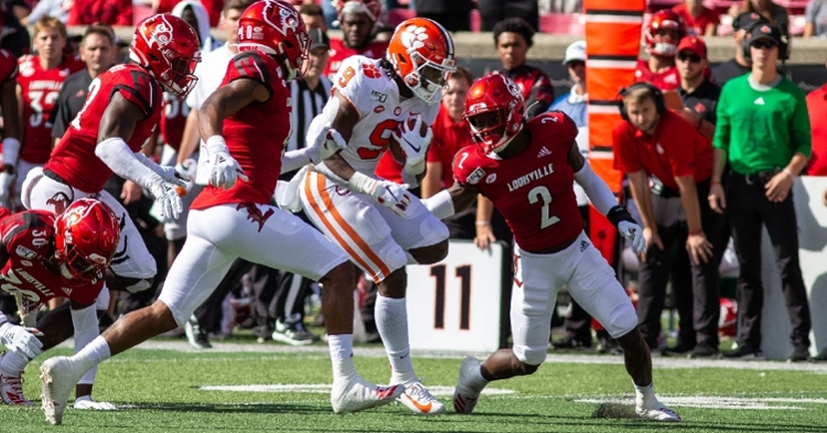 Etienne had 192 yards against the Cards.