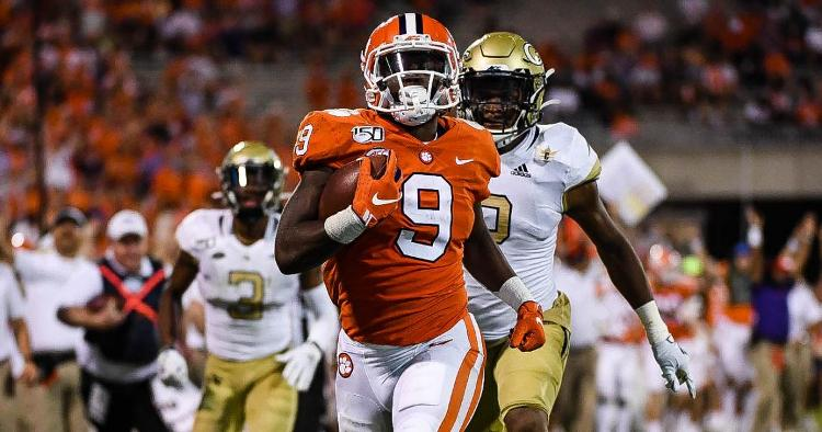 Travis Etienne had a career-high 205 yards