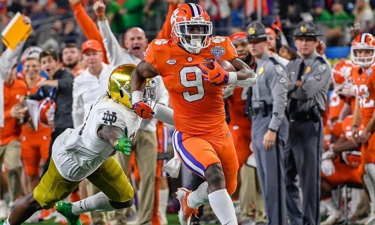 Etienne won ACC player of the year and will compete for a run to the Heisman ceremony in 2019.