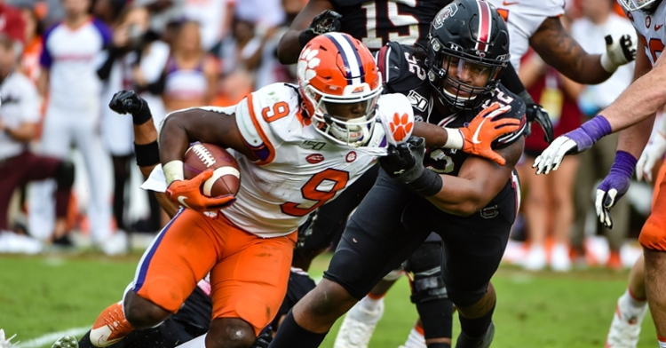 Travis Etienne won't get another shot at South Carolina.