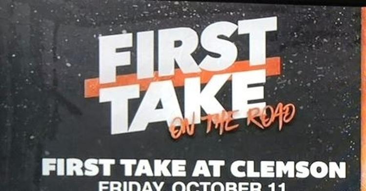 ESPN's First Take coming to Clemson