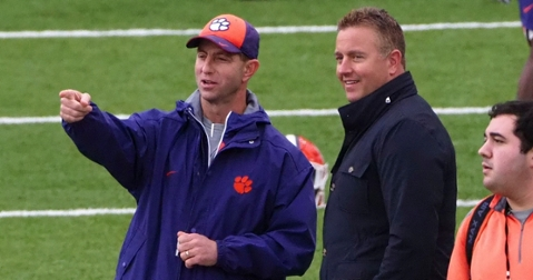 Herbstreit thinks head coach Dabo Swinney and No. 5 Clemson will be in a bad mood Saturday. (Photo: Kelley Cox / USAT)