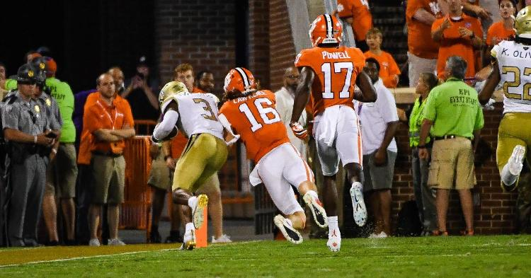 Trevor Lawrence saved a touchdown by knocking Tre Swilling out at the two yard line.