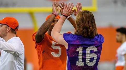 Trevor Lawrence and Tee Higgins are excited about the start of spring practice