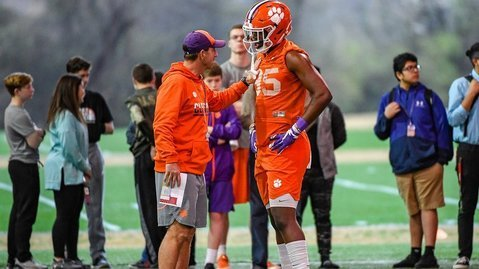 Lay has impressed Swinney with how much he's improved since the spring