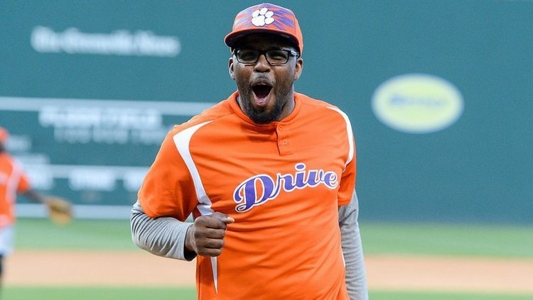 DeAndre McDaniel reacts after striking out a player in last year's game