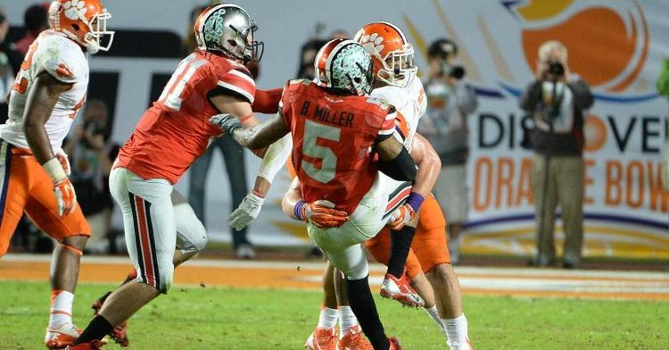 Braxton Miller was hit early and often by the Tigers
