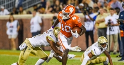Hard work paying off for Clemson receiver who toils far from home