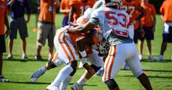 Clemson overhauling football practice fields