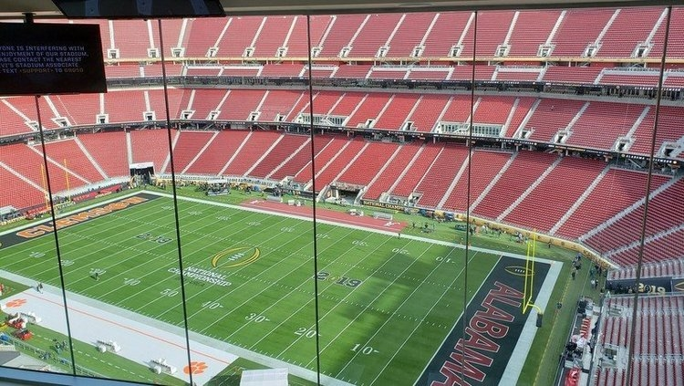 The view from the press box at Levi's Stadium