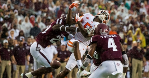 Aggies look to handle Texas St. before trip to No. 1 Clemson