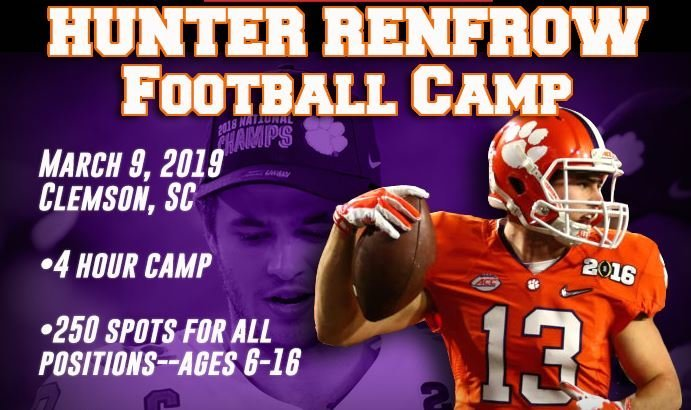 Sign up for Hunter Renfrow's Football Camp