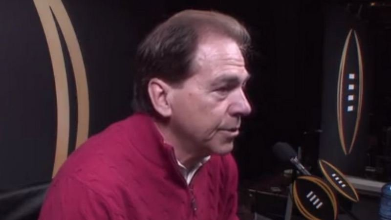 Saban speaks with the media Saturday