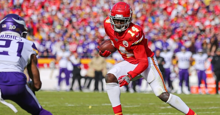 Watkins was featured heavily in K.C.'s attack on Sunday. (USA TODAY Sports-Jay Biggerstaff)
