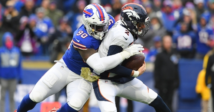 Lawson had two sacks against the Broncos (Rich Barnes - USA Today Sports)