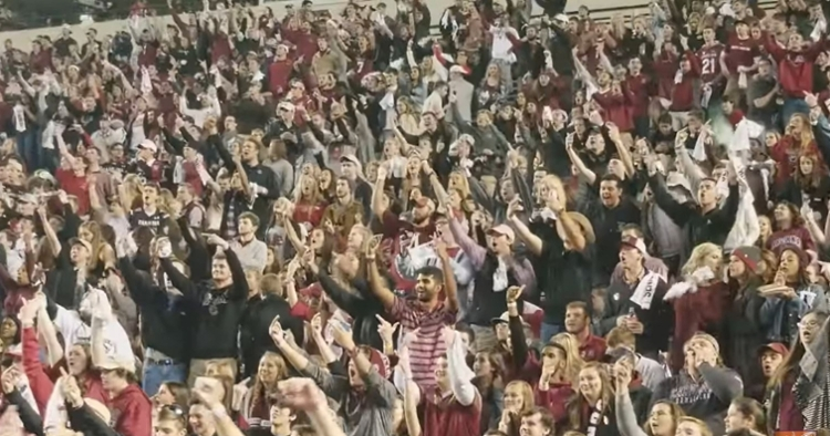 South Carolina students flip off Clemson players two years ago