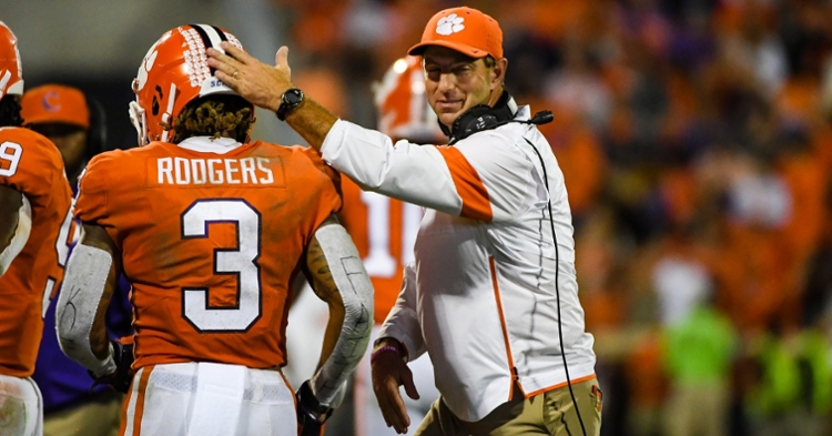 Dabo Swinney says you can throw the records out when the Tigers and Gamecocks meet.