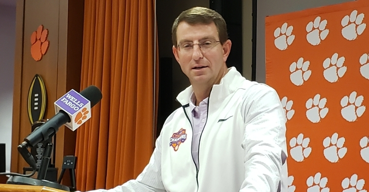 Swinney defended his team's schedule during his Tuesday press conference