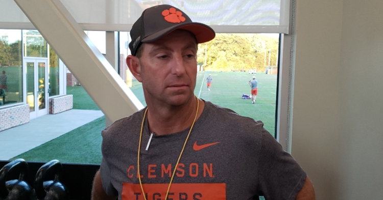 Swinney walked down memory lane in part of Wednesday's media session