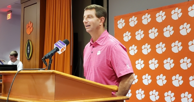 Swinney says he is pumped about a night game in Death Valley.