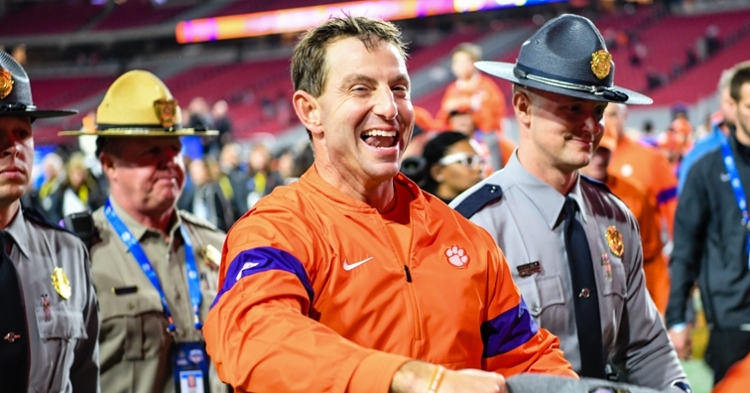 Dabo Swinney hopes to be smiling after the 2020 season