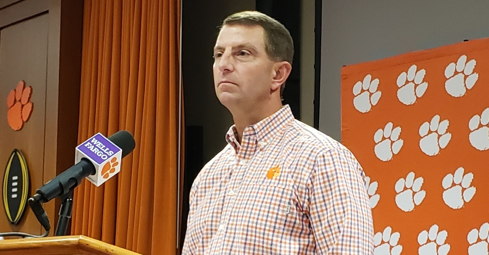 Bittersweet day in the Valley: Swinney looks ahead to Senior Day - TigerNet.com