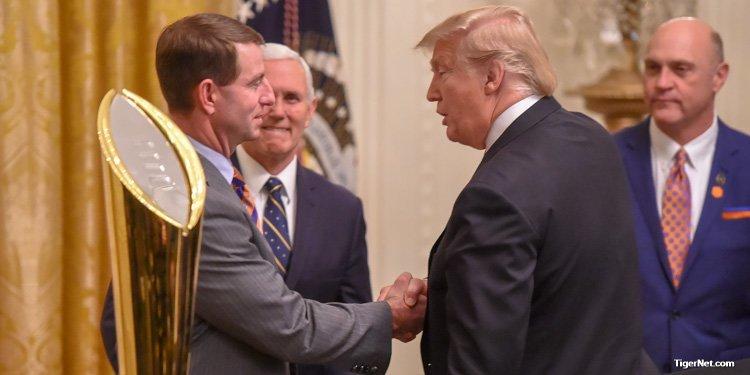 President Trump on Clemson's previous visit to White House - TigerNet.com