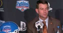 WATCH: Clemson arrives at the 2019 Fiesta Bowl, Swinney press conference