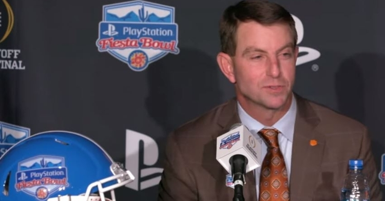 Swinney excited about the opportunity to play in the 2019 Fiesta Bowl