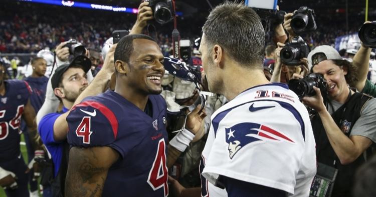 Watson met Brady on the field during postgame